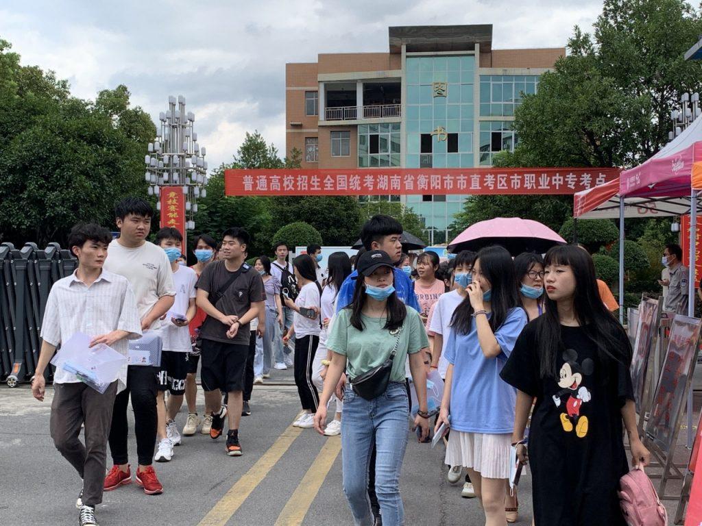 2020年高考第一天,衡阳市职业中等专业学校考点掠影